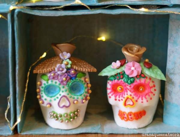 Sugar Skulls für den Dia de los Muertos