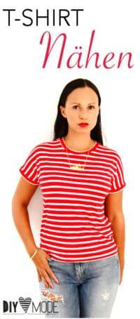 T-Shirt nähen ohne Schnittmuster