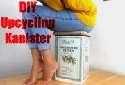 Upcycling aus einem alten Kanister wird ein Hocker