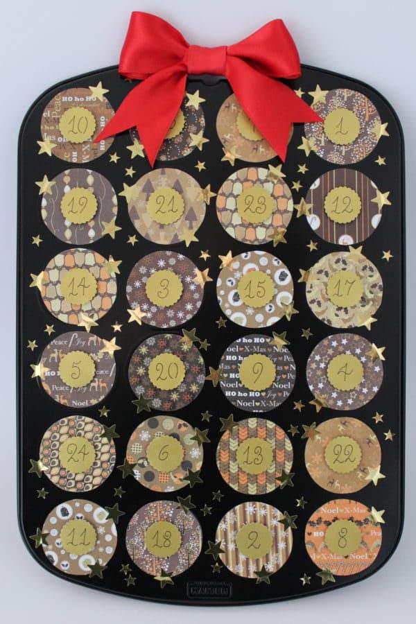 Adventskalender aus Muffinblech