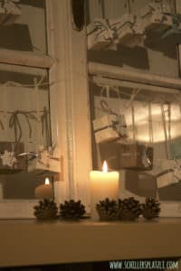 Fensterladen upcycling für den Adventskalender