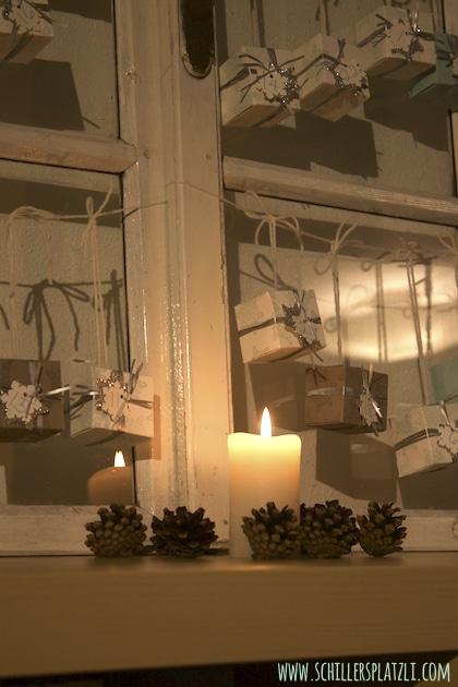 Fensterladen upcycling für den Adventskalender