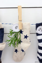 Adventskalender aus Babysocken