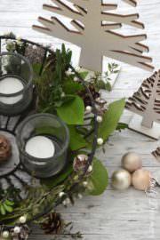 duftender Adventskranz mit Kräutern