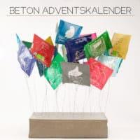 """Der """"Beton""""-Adventskalender für Teebeutel, Umschläge oder Geschichten"""