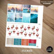 Ausdruckbare Sticker: Dezember