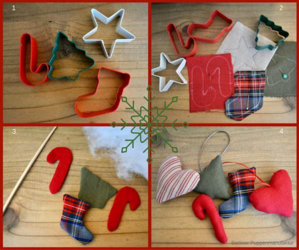 Weihnachtsdekoration aus Plätzchenformen