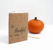 Dankbarkeitstagebuch mit einfacher Fadenheftung