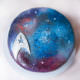 Dark Velvet Galaxy Cake à la Star Trek ... Resistance is futile - Mohntage