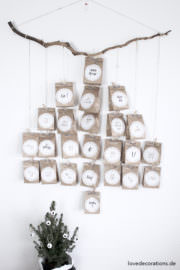 DIY Adventskalender in Tannenbaumform