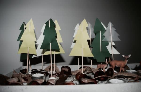 DIY-Basteln mit Kindern-Zauberwald
