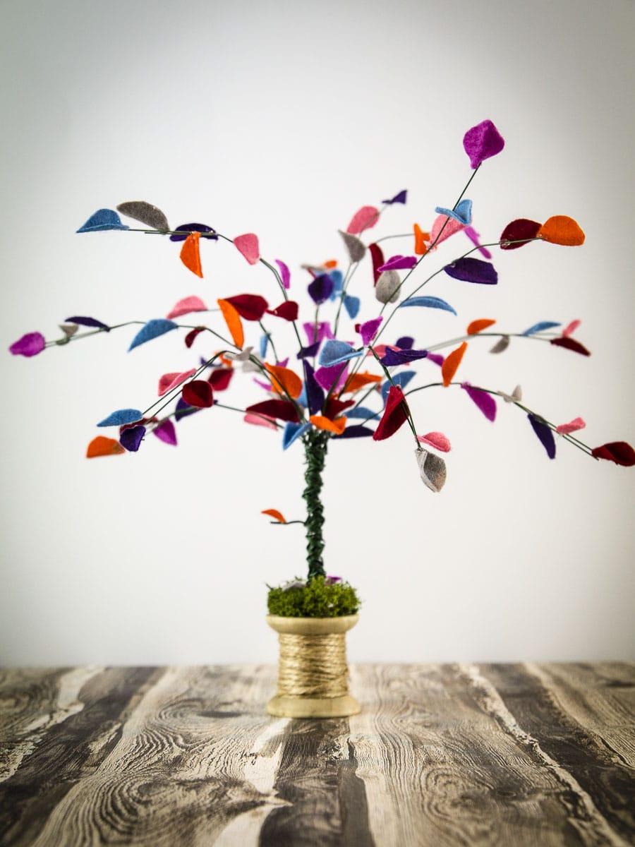 Diy Filz Baum 🍂 Herbst Deko 🍂 Handmade Kultur