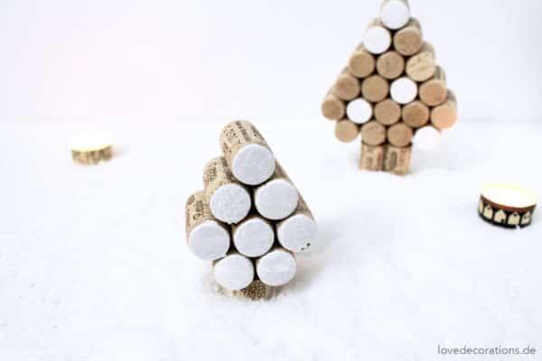 DIY Tannenbaum aus Weinkorken