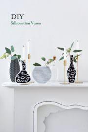 DIY: Vasen Silhouetten aus Geschenkpapier basteln
