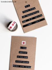 DIY Weihnachtskarte mit Dymo