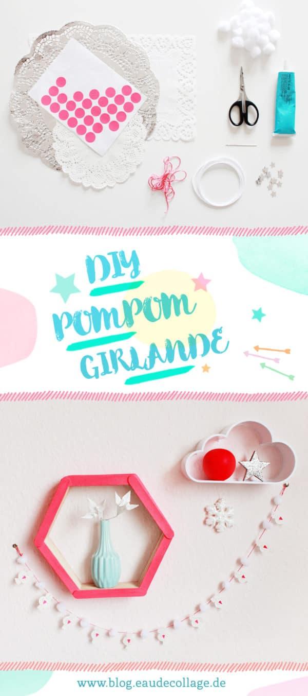 DIY MINI-POMPOM-GIRLANDE BASTELN