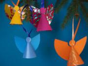 Farbenfrohe Engel zu Weihnachten basteln