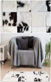 DIY Patchwork Kuhfell-Teppich
