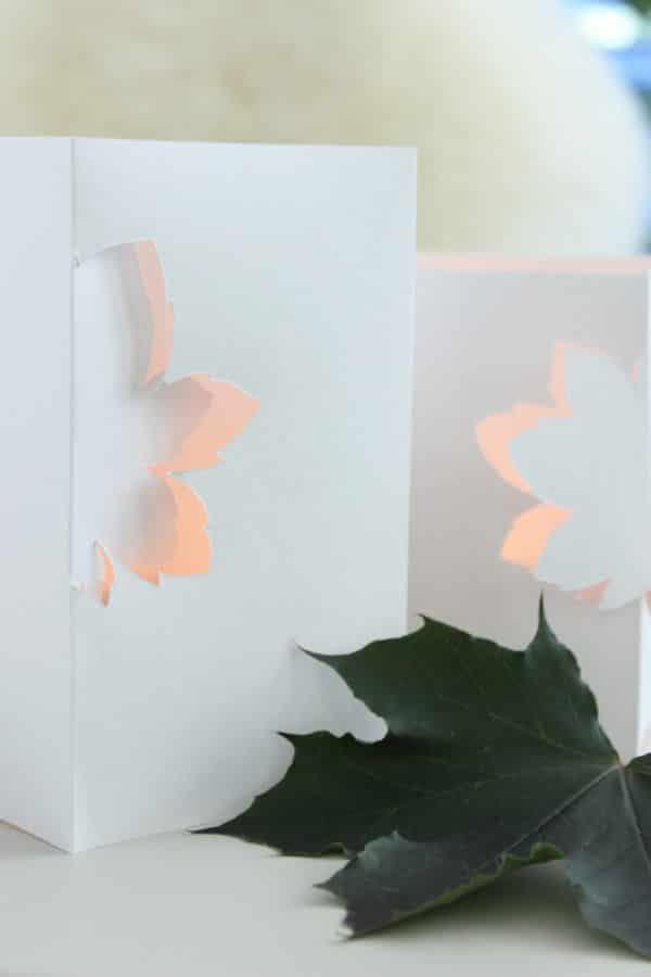 Filigrane Windlichter aus Papier