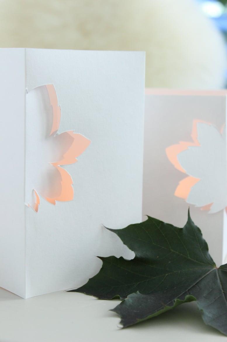 filigrane windlichter aus papier handmade kultur. Black Bedroom Furniture Sets. Home Design Ideas