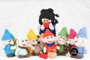 Häkelfiguren: Schneewittchen und die 7 Zwerge