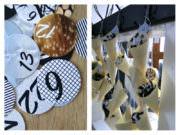 Adventskalender mit Fingerfoodspitztüten aus Holz + Adventszahlen