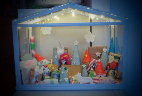 Adventskalender im Mini-Gewächshaus