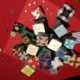 Edding Adventskalender Origamiboxen auf Papierpyramide