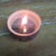 Kerze mit Überraschung