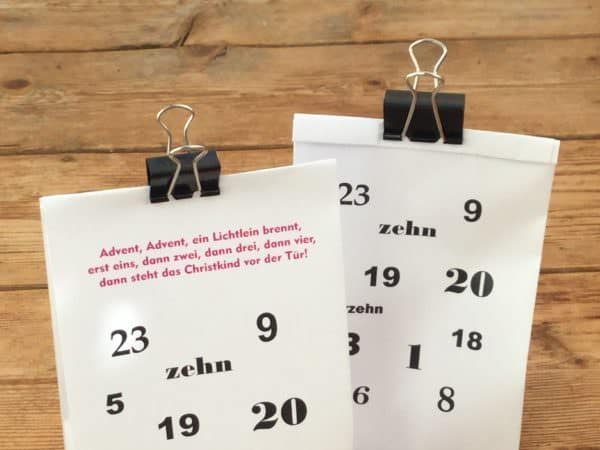 Adventskalendertüte als Freebie