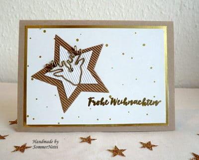 Karte Sternengruß mit Elch