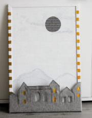Korkpinnwand mit Farbe + Filz