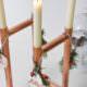 DIY Kerzenständer aus Kupferrohr ... mit Last-Last-Last-Minute Adventskranz-Idee | Mohntage