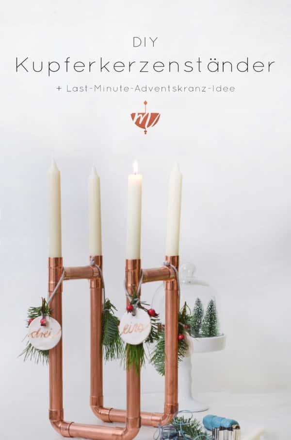 DIY Kerzenständer aus Kupferrohr ... mit Last-Last-Last-Minute ...