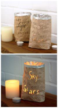 Stimmungsvolle Lichttüten aus Getränkekartons basteln