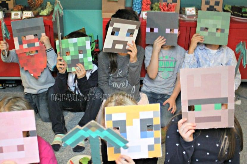 minecraft kinder geburtstag essen und bastel ideen zum selbermachen handmade kultur. Black Bedroom Furniture Sets. Home Design Ideas