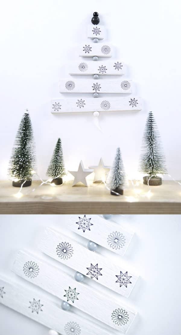 Kleiner Holz Weihnachtsbaum zum aufhängen. - HANDMADE Kultur