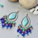 Wie kann man ein Paar Ohrringe mit Türkis Perlen fertigen