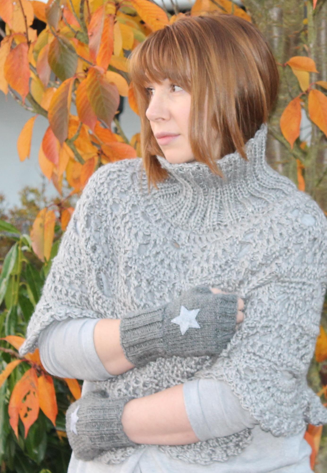 Poncho Lace Häkeln Handmade Kultur