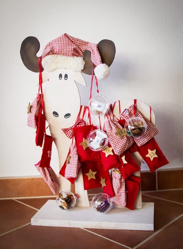 Weihnachtskalender Elch.Adventskalender Elch Handmade Kultur