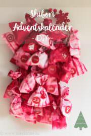 Adventkalender - geknotet und gefärbt
