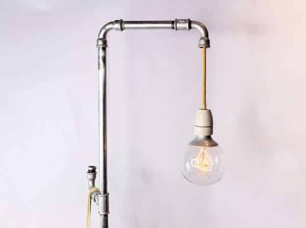 Stehlampe im Industrie Stil