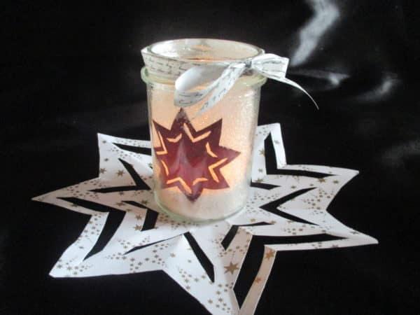 Sternenteelichtglas