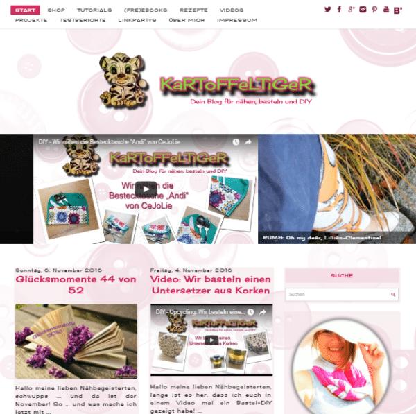 Home | Dein Blog für nähen, basteln und DIYKaRToFFeLTiGeR – der Blog – Dein Blog für nähen, basteln und DIY