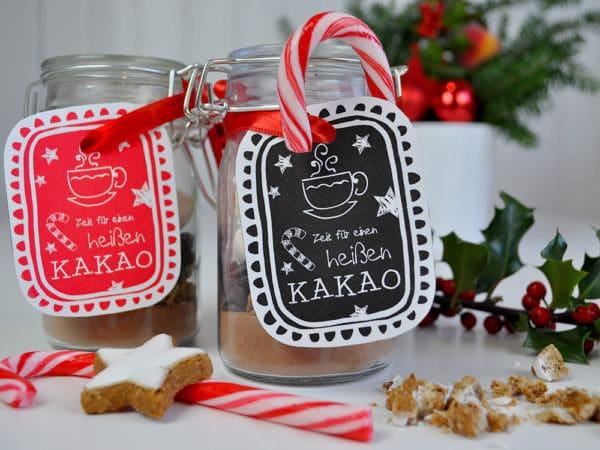Weihnachtskakao verschenken