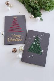 Weihnachtskarten besticken