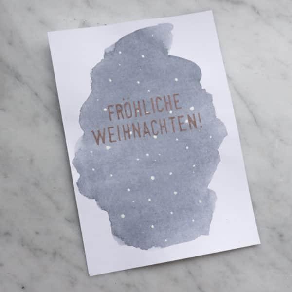 DIY Aquarell Schneeflocken Weihnachtskarten