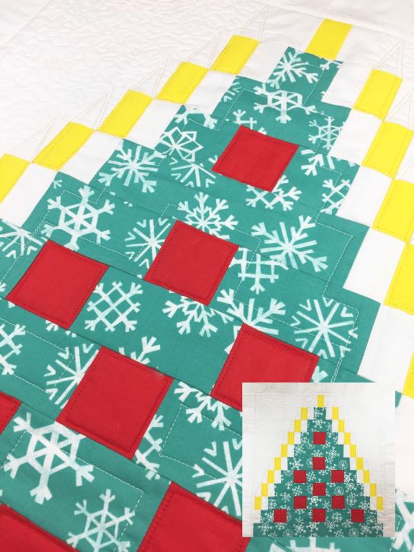 Miniquilt mit Weihnachtsbaum