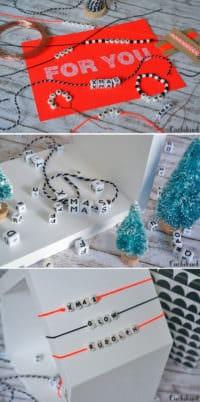 Weihnachtsdeko aus Buchstabenperlen