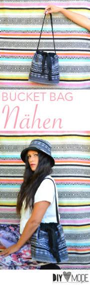 Bucket Bag nähen / Tasche mit Schnittmuster